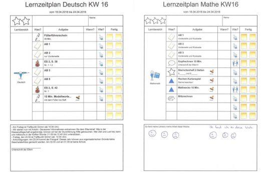 Lernzeitplan Gebrüder-Grimm-Schule